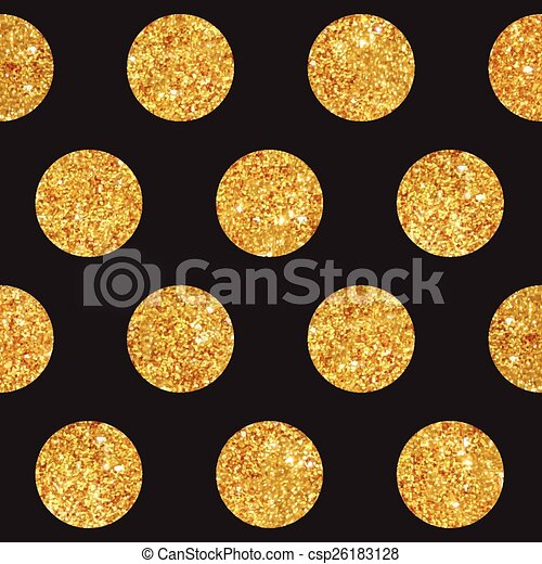 Vintage Geometric Glittery Gold Background - Seamless Pattern - in vector - csp26183128