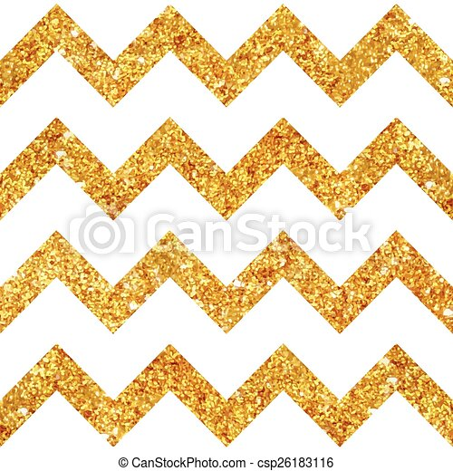 Vintage Geometric Glittery Gold Background - Seamless Pattern - in vector - csp26183116