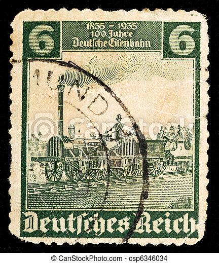 Vintage German postage stamp - csp6346034