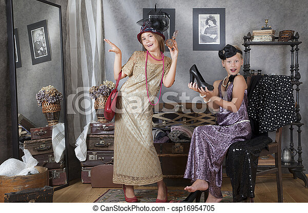 Vintage girls - csp16954705