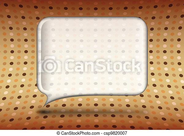 Vintage glass speech bubble - csp9820007