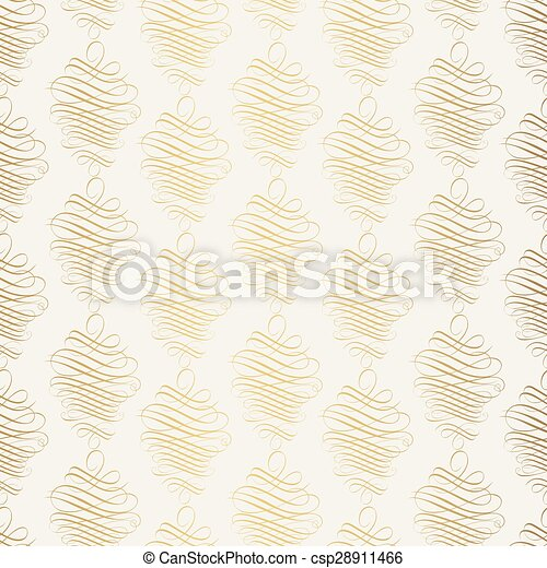 Vintage gold background, vector ornamental pattern - csp28911466