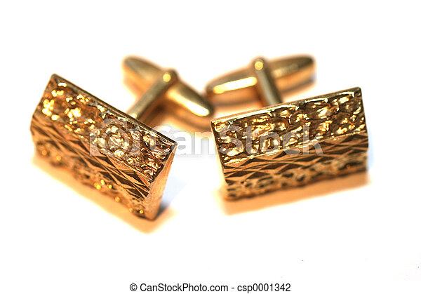 Vintage gold cuffli - csp0001342