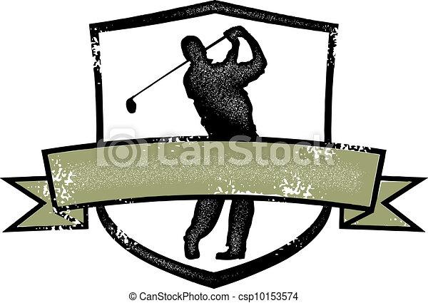 Vintage Golf Player Crest - csp10153574