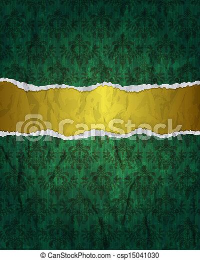 Vintage green grunge background - csp15041030