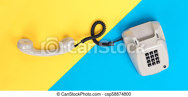 Vintage grey telephone - csp58874800