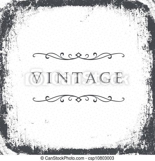 Vintage grunge frame background. Vector, EPS8 - csp10803003