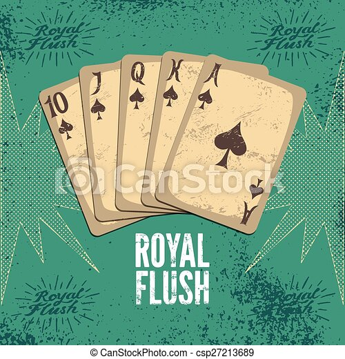 Vintage grunge style casino poster  - csp27213689