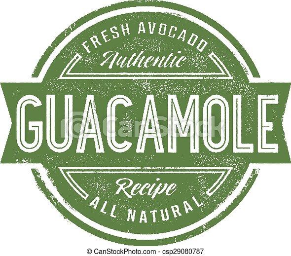 Vintage Guacamole Stamp - csp29080787