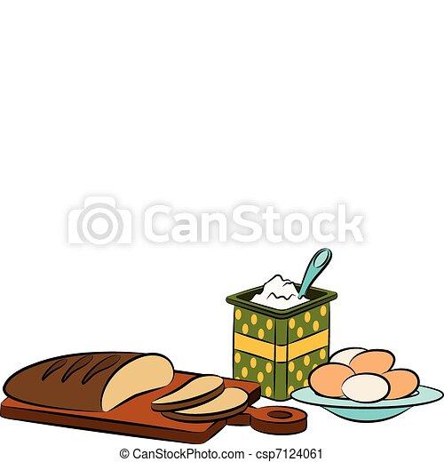 Vintage healthy meal ingredients - csp7124061