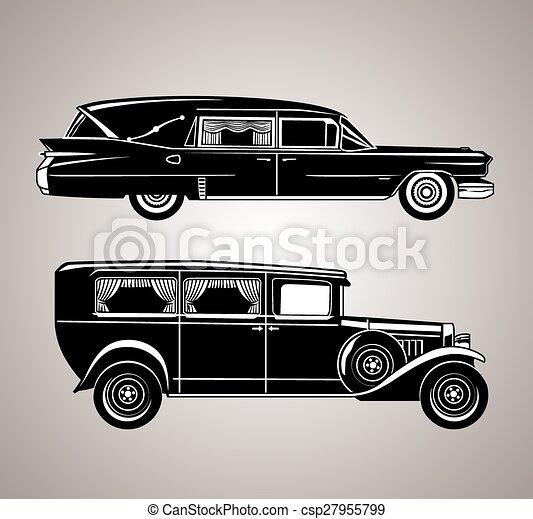Vintage Hearses - csp27955799