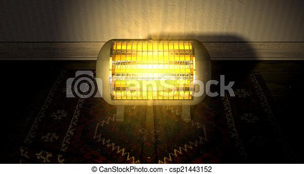 Vintage Heater On Persian Carpet - csp21443152