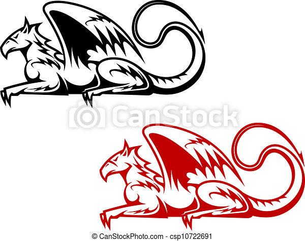 vintage heraldic griffin symbols for heraldry design eps vectors rh canstockphoto com heraldic clip art programs heraldic clip art of bird