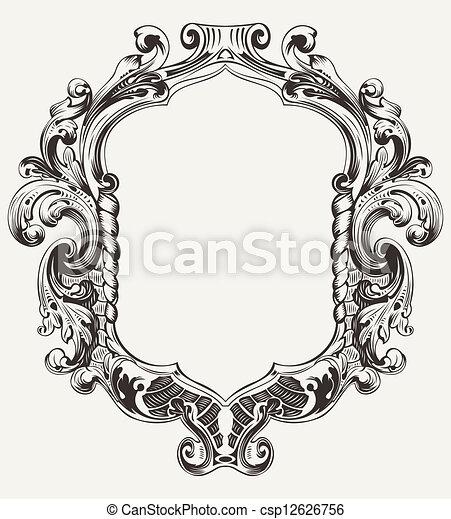 Vintage High Ornate Original Royal Frame - csp12626756