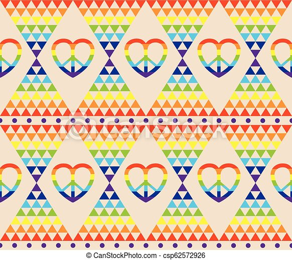 Vintage Hippie Wallpaper With Rainbow Hippie Symbol Psychedelic