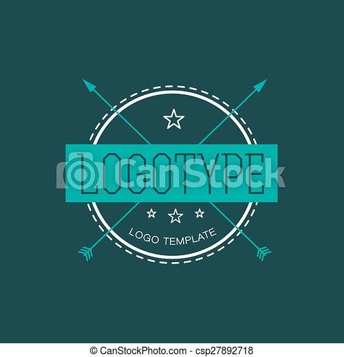 vintage hipster design element for vector logo vintage design