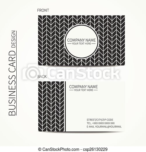 Vintage hipster simple monochrome business card template for your ...