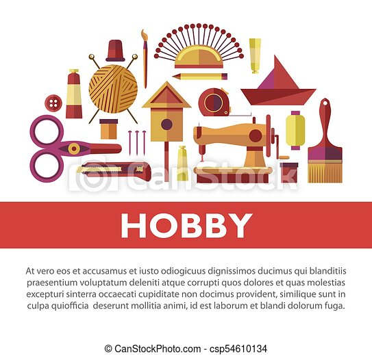 Vintage Hobby Based On Handicraft Promotional Info Poster With