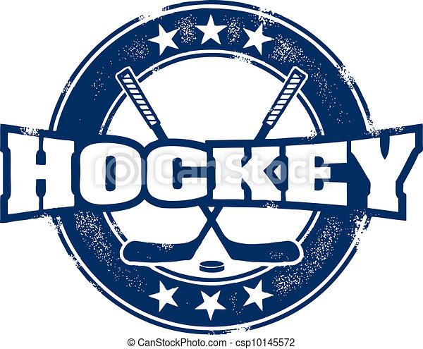 Vintage Hockey Sport Stamp - csp10145572