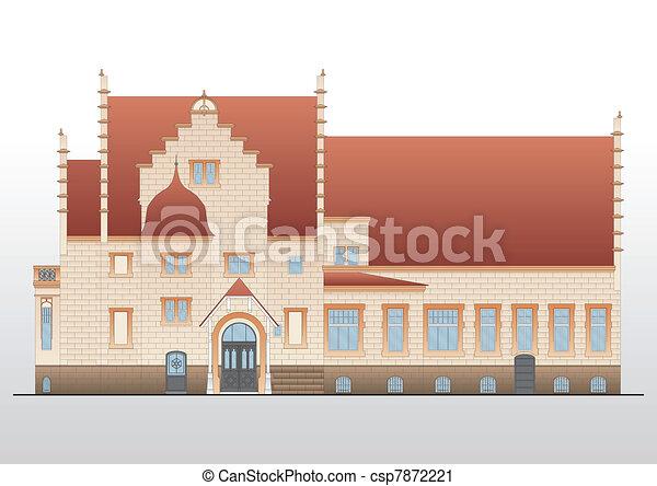 Vintage house architectural plan ve - csp7872221