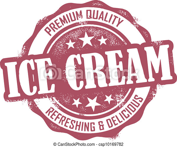 Vintage Ice Cream Stamp - csp10169782