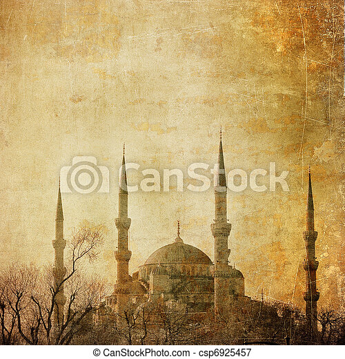 Vintage image of Blue Mosque, Istambul - csp6925457