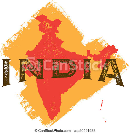 Vintage India Country Design - csp20491988