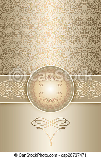 Vintage invitation card template Vintage background with stock