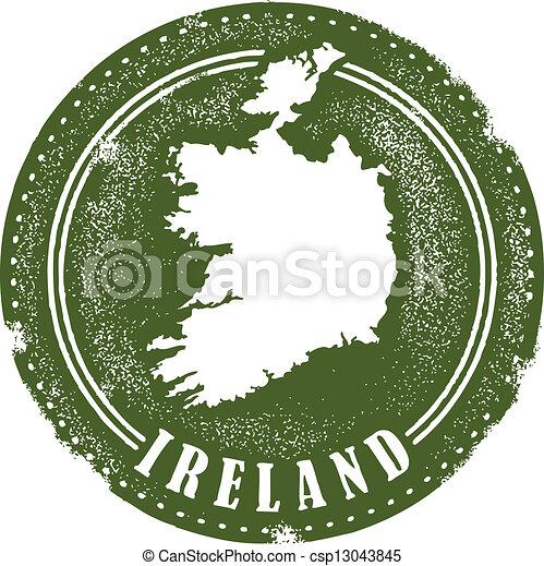Vintage Ireland Stamp - csp13043845