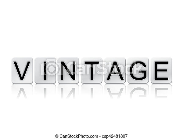 Vintage Isolated Tiled Letters Concept and Theme - csp42481807
