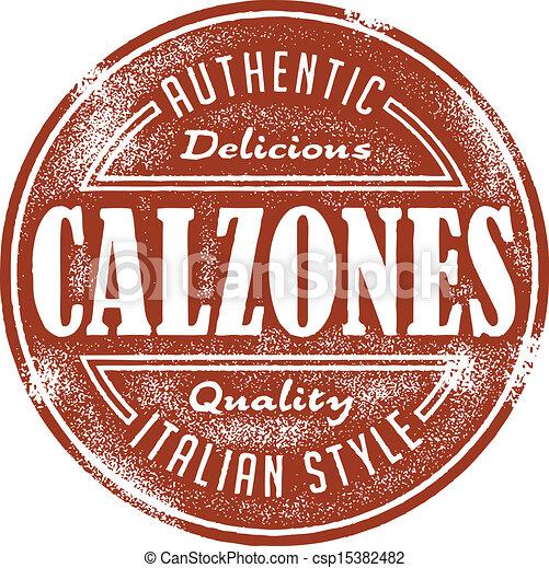 Vintage Italian Calzone Stamp - csp15382482
