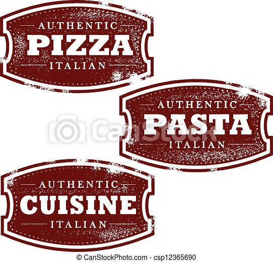 Vintage Italian Food Stamps - csp12365690