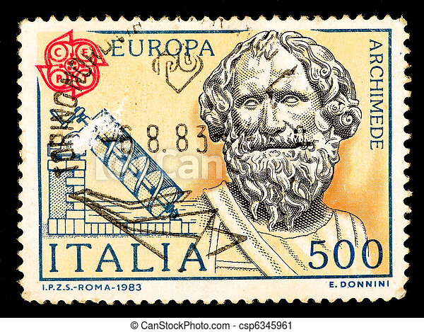 Vintage Italy postage stamp - csp6345961