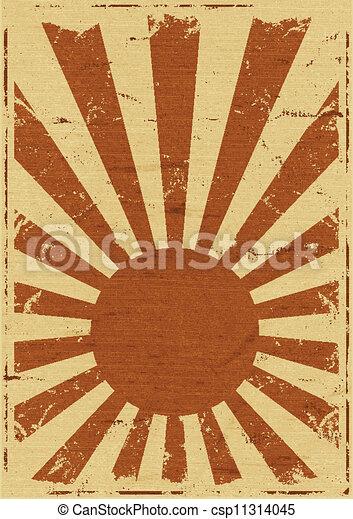 Vintage Japan Flag Background - csp11314045
