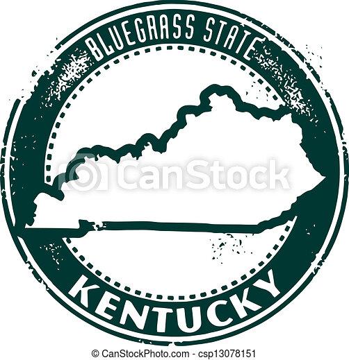 Vintage Kentucky USA State Stamp - csp13078151
