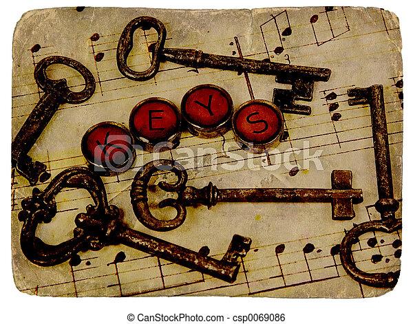 Vintage Keys - csp0069086