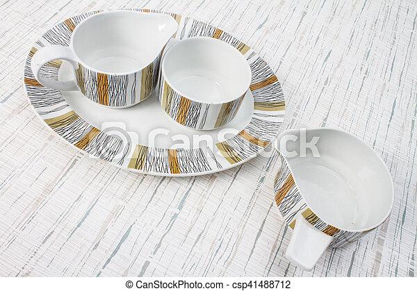 Vintage Kitchen dishes - csp41488712