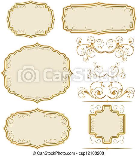 Vintage Label set - csp12108208
