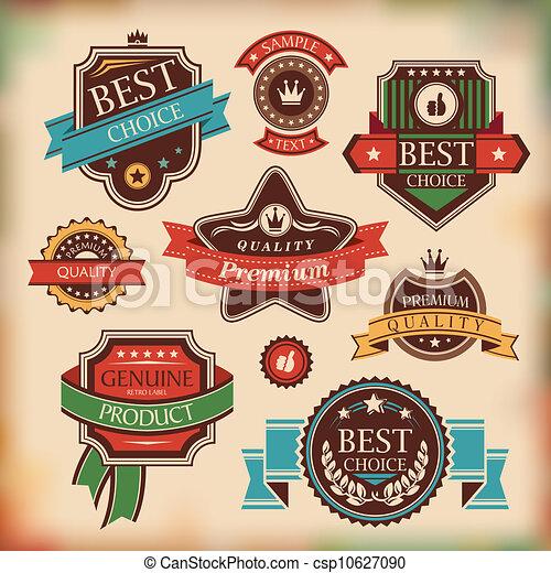 vintage labels and badges - csp10627090
