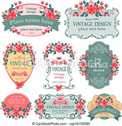 Vintage labels - csp16155580