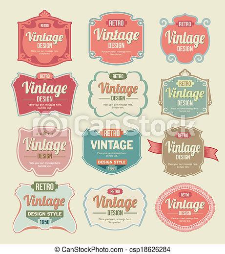Vintage Labels - csp18626284