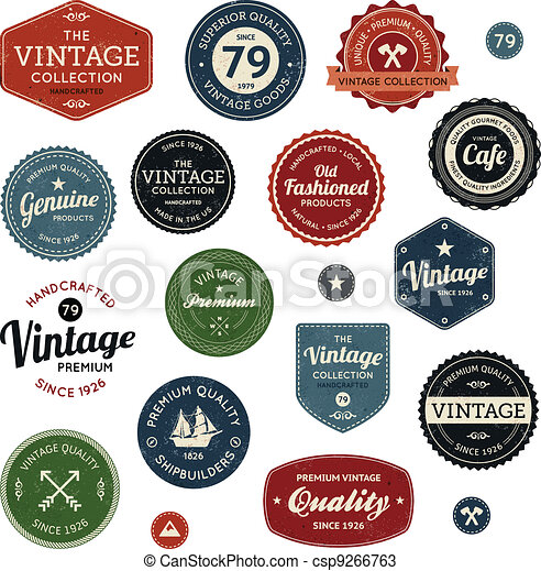 Vintage labels - csp9266763
