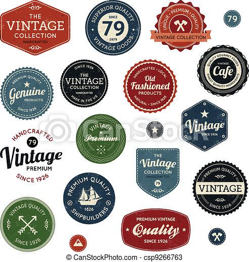Vintage labels - csp9266763