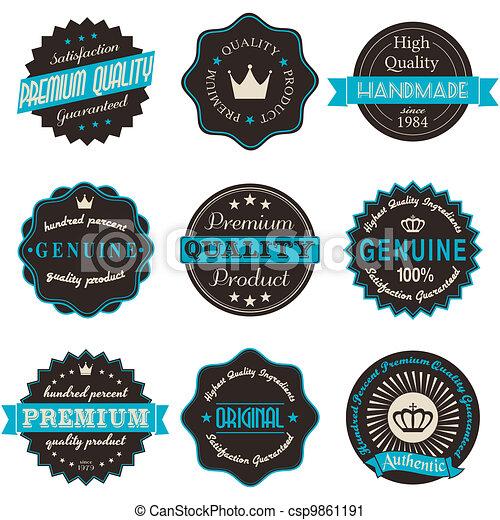 Vintage Labels - csp9861191