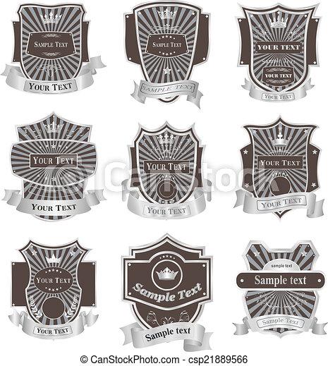Vintage labels vector set - csp21889566