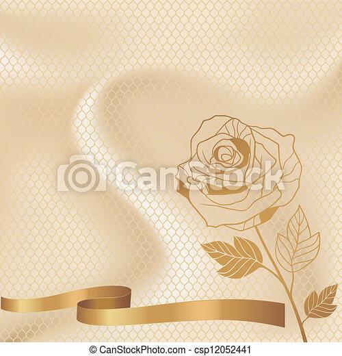 Vintage lace background ornamental flowers, invitation card. - csp12052441