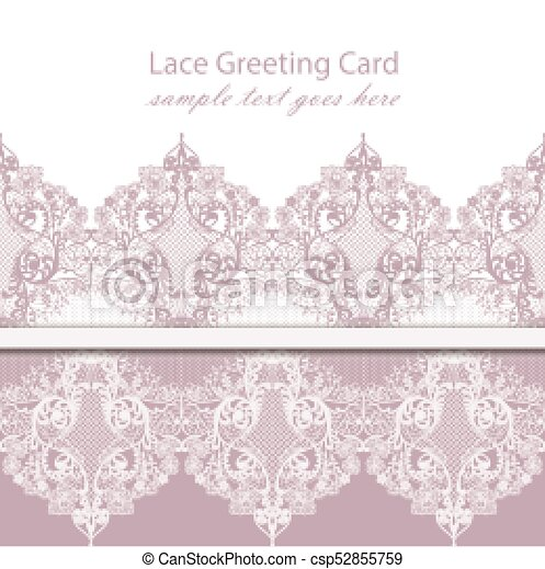 Vintage Lace Background Vector With Handmade Ornaments Pink