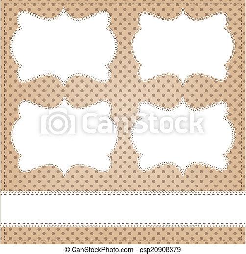 Vintage lace frame layout - csp20908379