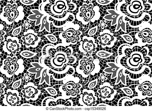 vintage lace guipure seamless pattern with abstract flowers on black rh canstockphoto com lace vector free lace vector file