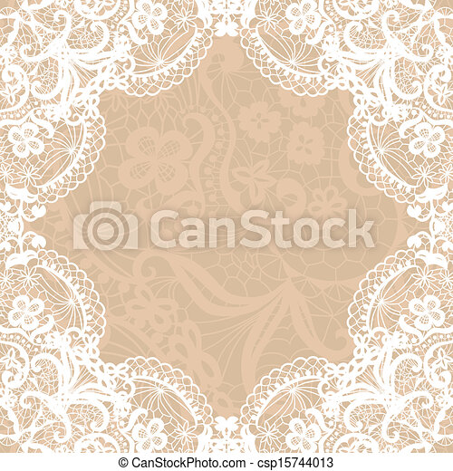 Vintage lace invitation card. - csp15744013